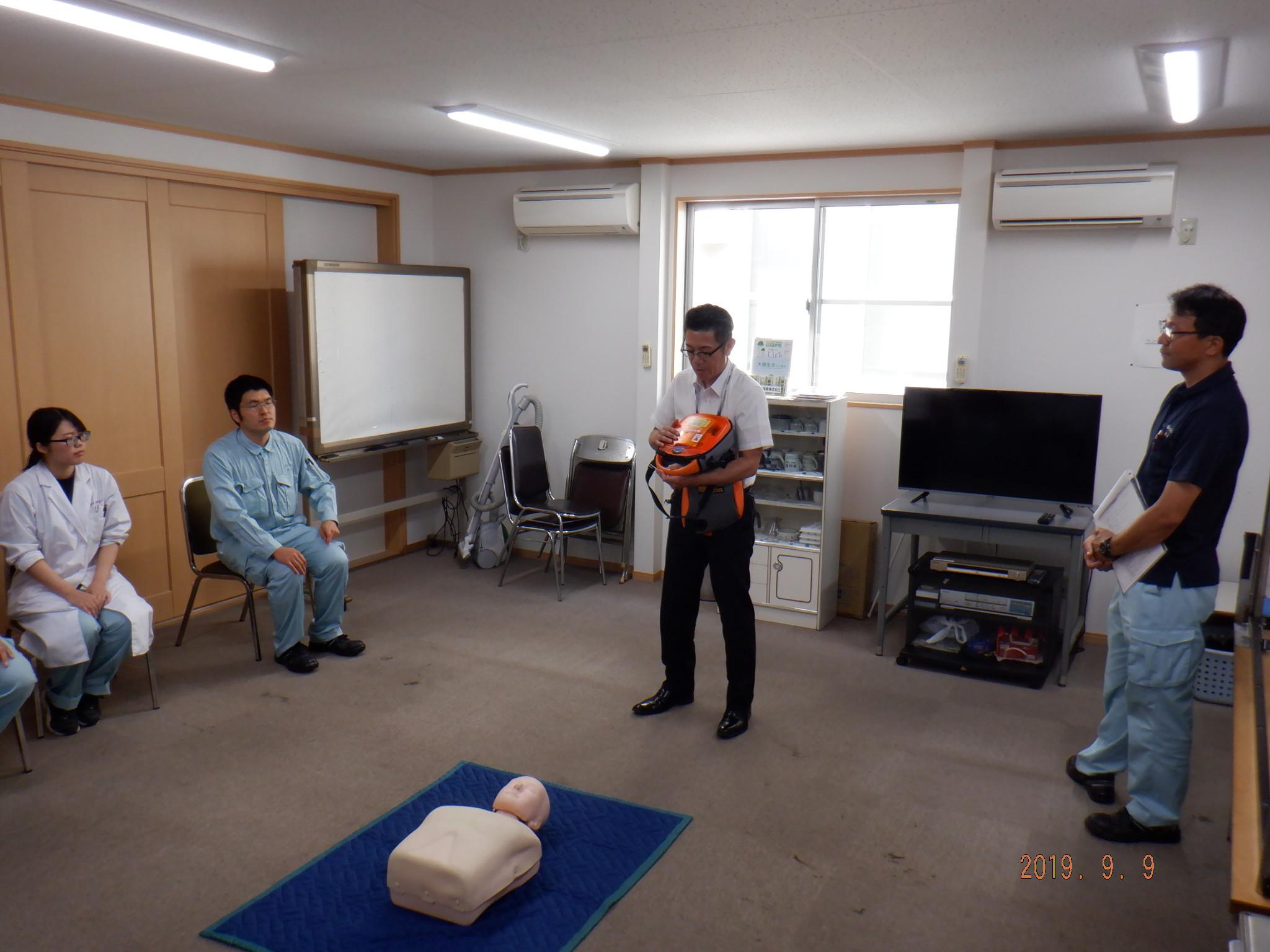 セコムさんによるAED取扱、救急処置講習